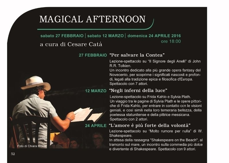 MAGICAL AFTERNOON - PER SALVARE LA CONTEA - 27.02.16